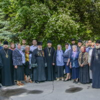 21 июня 2018 года, в Псковском епархиальном управлении митрополит Псковский и Порховский Тихон провел встречу с заштатными священнослужителями и вдовами клириков Псковской епархии.