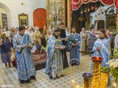 20-21 июля 2018 года, в день прославления Казанской иконы Божией Матери в Свято-Троицком кафедральном соборе города Пскова прошли праздничные богослужения.