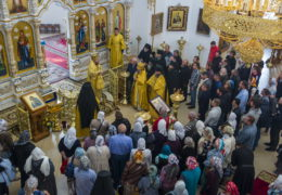 9 сентября 2018 года, в Неделю 15-ю по Пятидесятнице, митрополит Псковский и Порховский Тихон совершил Божественную Литургию в Свято-Благовещенской Никандровой пустыни.