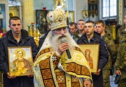 3 октября 2018 года состоялось принесение в Псковскую епархию мощей святых — покровителей воинства.