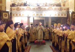 Вечером 29 декабря 2018 года, накануне Недели 31-й по Пятидесятнице, святых Праотец, митрополит Псковский и Порховский Тихон возглавил Всенощное бдение в Свято-Успенском Псково-Печерском монастыре.