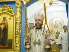 8 января 2019 года, в празднование Собора Пресвятой Богородицы, митрополит Псковский и Порховский Тихон совершил Божественную Литургию в Спасо-Елеазаровском женском монастыре.