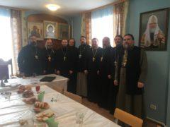 14 февраля 2019 года в воскресной школе Никольского собора города Порхова состоялось собрание духовенства Порховского благочиния Псковской епархии под председательством благочинного иерея Виктора Шелухова.