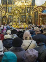 10 марта 2019 года, в Неделю сыропустную, воспоминание Адамова изгнания, митрополит Псковский и Порховский Тихон совершил Божественную Литургию в Свято-Троицком кафедральном соборе города Пскова.