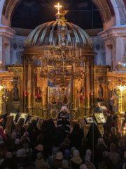 Вечером 10 марта 2019 года, накануне 1-й седмицы Великого поста, митрополит Псковский и Порховский Тихон совершил Вечерню с чином Прощения в Свято-Успенском Псково-Печерском монастыре.