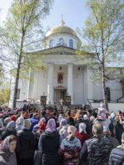 29 апреля 2019 года, в понедельник Светлой седмицы, митрополит Псковский и Порховский Тихон совершил Божественную литургию вМихайловском соборе Свято-Успенского Псково-Печерского монастыря.