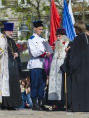 8 мая 2019 года, в канун дня Победы в городе Пскове прошли заупокойные богослуженияпо воинам, погибшим за веру и Отечество в годы Великой Отечественной войны.