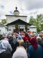 12 мая 2019 года, в Неделю 2-ю по Пасхе, в храме святых Жен-Мироносиц города Пскова прошел престольный праздник.