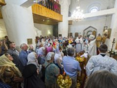 6 июня 2019 года, в праздник Вознесения Господня, митрополит Псковский и Порховский Тихон совершил Божественную Литургию в Старовознесенском храме города Пскова.