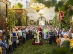 16 июня 2019 года, в день Святой Троицы, Пятидесятницы, митрополит Псковский и Порховский Тихон совершил Божественную Литургию в Свято-Троицком кафедральном соборе города Пскова.