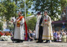 22 июня 2019 года, в 78-ю годовщину начала Великой Отечественной войны, в городе Пскове прошли заупокойные богослуженияпо воинам, погибшим за веру и Отечество.