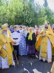 28 июля, в день памяти святого равноапостольного великого князя Владимира, в храме поселка Черская Палкинского района прошел престольный праздник.