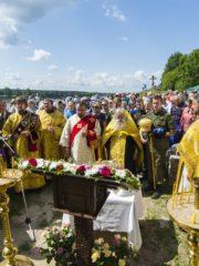 23 июля 2019 года, в канун дня памяти святой равноапостольной великой княгини Ольги, на родине святой в поселке Выбуты Псковского района состоялось праздничное богослужение.