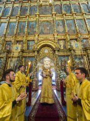 Вечером 23 июля 2019 года, накануне дня памяти святой равноапостольной княгини Ольги, митрополит Псковский и Порховский Тихон возглавил всенощное бдение в Свято-Троицком кафедральном соборе города Пскова.