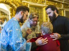 6 августа 2019 года, в день памяти святых мучеников благоверных князей Бориса и Глеба, митрополит Псковский и Порховский Тихон совершил Божественную Литургию в Успенском соборе Псково-Печерской обители.