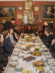 1 сентября 2019 года митрополит Тихон провел встречу с учащимися заочного сектора Сретенской Духовной Семинарии из Псковской епархии.