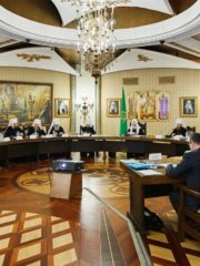 4 сентября 2019 года митрополит Псковский и Порховский Тихон принял участие в очередном заседании Высшего Церковного Совета Русской Православной Церкви.