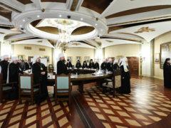 Митрополит Псковский и Порховский Тихонпринял участие в очередном заседании Высшего Церковного Совета Русской Православной Церкви.