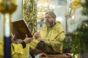 10 ноября 2019 года, в Неделю 21-ю по Пятидесятнице, митрополит Псковский и Порховский Тихон совершил Божественную Литургию в Свято-Троицком кафедральном соборе города Пскова.