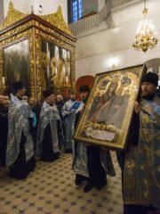 15 ноября 2019 года в Псковскую епархию была принесена чудотворная икона Божией Матери «Благоуханный Цвет».