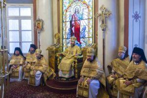 15 декабря 2019 года, в Неделю 26-ю по Пятидесятнице, митрополит Псковский и Порховский Тихон совершил Божественную Литургию в Свято-Успенском Псково-Печерском монастыре.