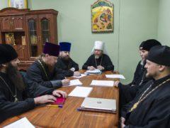 5 декабря 2019 года в Псковском епархиальном управлении под председательством митрополита Псковского и Порховского Тихона состоялось собрание руководителей епархиальных отделов.