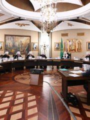 Митрополит Псковский и Порховский Тихон принял участие в очередном заседании Высшего Церковного Совета Русской Православной Церкви.