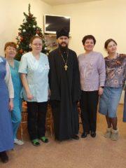 Сестры милосердия поздравили медперсонал и пациентов хосписа имени святой Марфы-Марии с Рождеством Христовым