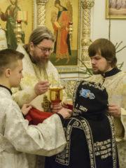 12 января 2020 года, в Неделю 30-ю по Пятидесятнице, митрополит Псковский и Порховский Тихон совершил Божественную Литургию в Свято-Троицком Творожковском монастыре.