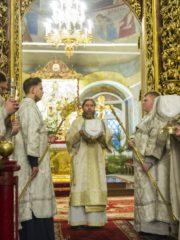 15 января 2020 года, в день памяти святого преподобного Серафима Саровского, митрополит Псковский и Порховский Тихон совершил Божественную Литургию в Свято-Троицком кафедральном соборе города Пскова.