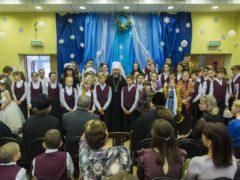 15 января 2020 года митрополит Псковский и Порховский Тихон поздравил учащихся Свято-Тихоновской православной гимназии города Пскова с Рождеством Христовым.