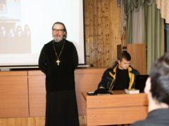 В Курской духовной семинарии прошла встреча с игуменом Августином (Заярным), посвященная старцам Псково-Печерского монастыря