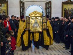 В Псковскую епархию принесена главная икона Воздушно-десантных сил РФ