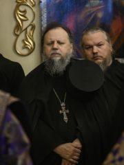 В пятницу пятой седмицы Великого поста в Свято-Успенском Псково-Печерском монастыре был совершен молебен о прекращении смертоносной язвы