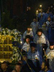 Чин погребения Плащаницы Пресвятой Богородицы. Прямая трансляция богослужения