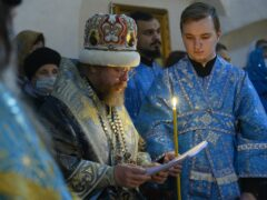 В праздник Покрова митрополит Тихон совершил первую за несколько веков архиерейскую Литургию древнерусским чином в Пскове
