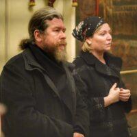 Министр культуры О. Б. Любимова и А. А. Турчак посетили Псково-Печерский монастырь