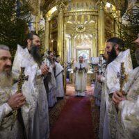 8 января 2021 года, в празднование Собора Пресвятой Богородицы, митрополит Псковский и Порховский Тихон совершил Божественную литургию в Свято-Успенском Псково-Печерском монастыре