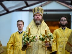 24 июля 2021 года, накануне Недели 5-й по Пятидесятнице, митрополит Псковский и Порховский Тихон совершил Всенощное бдение в Свято-Успенском Псково-Печерском монастыре