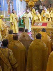 24 июля 2021 года, в день памяти святой равноапостольной Великой княгини Ольги, митрополит Псковский и Порховский Тихон совершил Божественную литургию в Свято-Троицком кафедральном соборе города Пскова