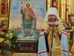 Слово митрополита Тихона на принесении мощей св. Александра Невского в Псково-Печерский монастырь