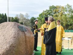 Митрополит Тихон совершил освящение закладного камня на месте будущего строительства историко-археологического парка в Херсонесе