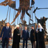 Состоялось открытие мемориального комплекса «Князь Александр Невский с дружиной»