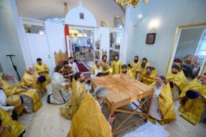 Митрополит Тихон совершил великое освящение воинского храма святого князя Александра Невского в городе Пскове